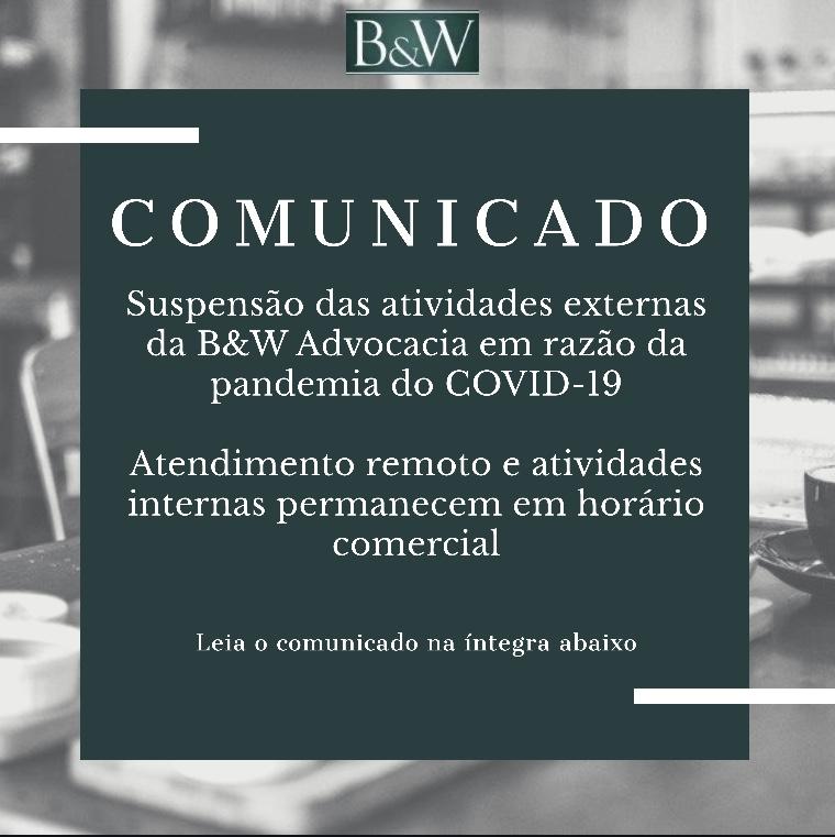 COMUNICADO - COVID 19